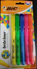Bic Brite Liner 5pk Highlighter #90837