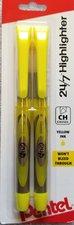 Pentel 24/7 Highlighter 2pk Yellow Chisel Tip #19452