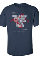 MCCC T-Shirt I am a Husky Navy Blue