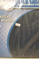 Poncho Hooded Adult Navy #1400