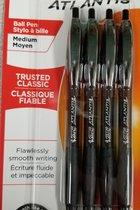 Bic Atlantis Retractable Ballpoint Pen 4pk Black #13938