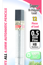 Pentel Lead 0.5mm 12ct #71001