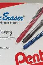 Pentel Clic Eraser W/Grip Blk,Blu,or Red 60ctDisplay
